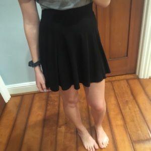 Black mini skirt with zipper in the back